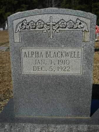 BLACKWELL, ALPHA - Columbia County, Arkansas | ALPHA BLACKWELL - Arkansas Gravestone Photos