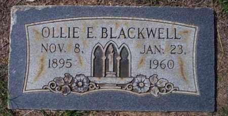 BLACKWELL, OLLIE E - Columbia County, Arkansas | OLLIE E BLACKWELL - Arkansas Gravestone Photos