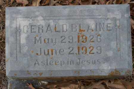 BLAINE, GERALD - Columbia County, Arkansas | GERALD BLAINE - Arkansas Gravestone Photos