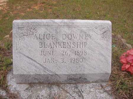 DOWNEY BLANKENSHIP, ALICE - Columbia County, Arkansas | ALICE DOWNEY BLANKENSHIP - Arkansas Gravestone Photos