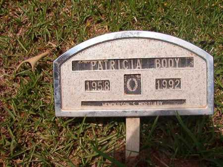 BODY, PATRICIA - Columbia County, Arkansas | PATRICIA BODY - Arkansas Gravestone Photos