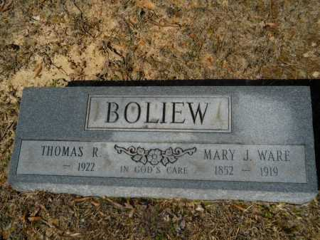 BOLIEW, MARY J - Columbia County, Arkansas | MARY J BOLIEW - Arkansas Gravestone Photos