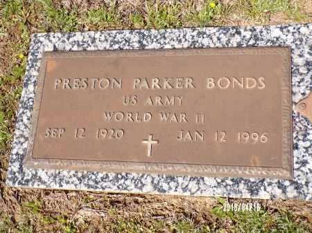 BONDS  (VETERAN WWII), PRESTON PARKER - Columbia County, Arkansas | PRESTON PARKER BONDS  (VETERAN WWII) - Arkansas Gravestone Photos