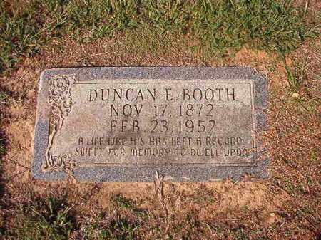 BOOTH, DUNCAN E - Columbia County, Arkansas | DUNCAN E BOOTH - Arkansas Gravestone Photos
