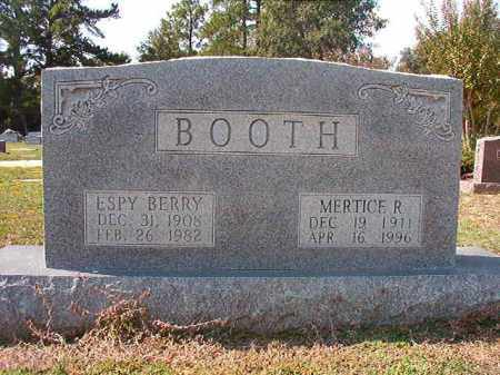 BOOTH, ESPY BERRY - Columbia County, Arkansas | ESPY BERRY BOOTH - Arkansas Gravestone Photos