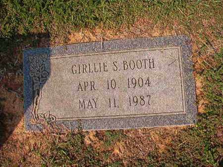 BOOTH, GIRLLIE S - Columbia County, Arkansas | GIRLLIE S BOOTH - Arkansas Gravestone Photos