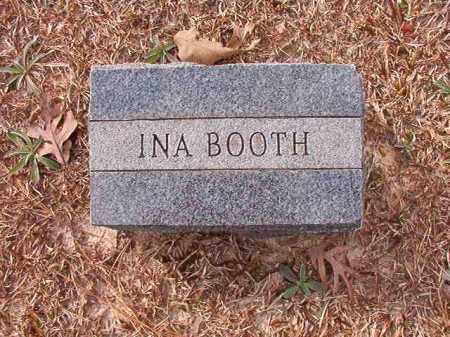 BOOTH, INA - Columbia County, Arkansas | INA BOOTH - Arkansas Gravestone Photos