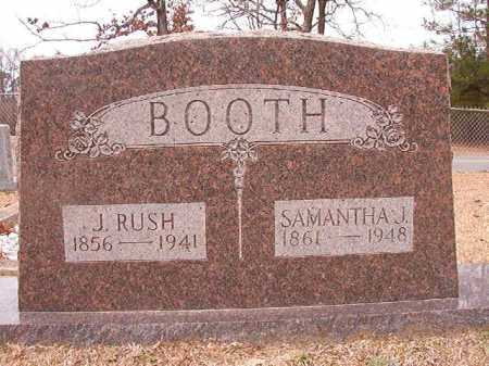 BOOTH, J RUSH - Columbia County, Arkansas | J RUSH BOOTH - Arkansas Gravestone Photos