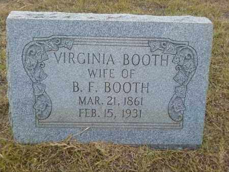 BOOTH, LOUISE VIRGINIA - Columbia County, Arkansas | LOUISE VIRGINIA BOOTH - Arkansas Gravestone Photos