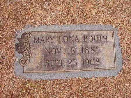 BOOTH, MARY LONA - Columbia County, Arkansas | MARY LONA BOOTH - Arkansas Gravestone Photos