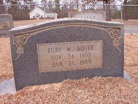 BOOTH, RUBY W - Columbia County, Arkansas | RUBY W BOOTH - Arkansas Gravestone Photos