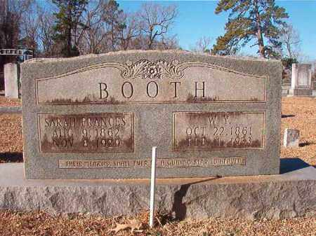 BOOTH, SARAH FRANCES - Columbia County, Arkansas | SARAH FRANCES BOOTH - Arkansas Gravestone Photos