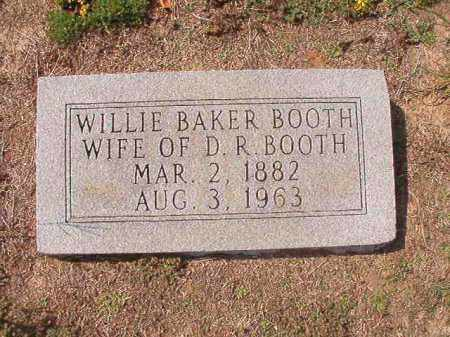 BOOTH, WILLIE - Columbia County, Arkansas | WILLIE BOOTH - Arkansas Gravestone Photos