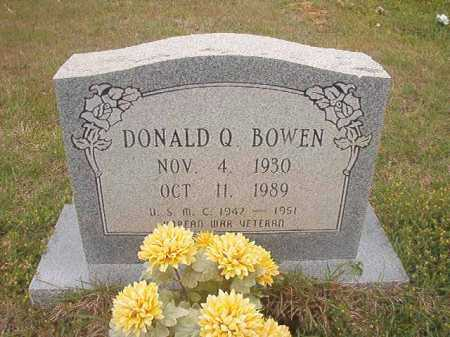 BOWEN (VETERAN KOR), DONALD Q - Columbia County, Arkansas | DONALD Q BOWEN (VETERAN KOR) - Arkansas Gravestone Photos