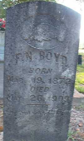 BOYD, F N - Columbia County, Arkansas | F N BOYD - Arkansas Gravestone Photos