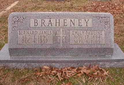 BRAHENEY, BERNARD JAMES - Columbia County, Arkansas | BERNARD JAMES BRAHENEY - Arkansas Gravestone Photos