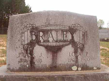 BRALEY, FRANK J - Columbia County, Arkansas | FRANK J BRALEY - Arkansas Gravestone Photos