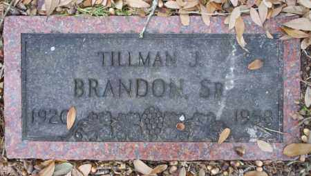 BRANDON SR, TILLMAN J - Columbia County, Arkansas | TILLMAN J BRANDON SR - Arkansas Gravestone Photos