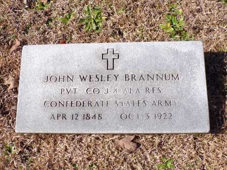 BRANNUM (VETERAN CSA), JOHN WESLEY - Columbia County, Arkansas | JOHN WESLEY BRANNUM (VETERAN CSA) - Arkansas Gravestone Photos