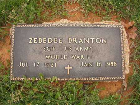 BRANTON (VETERAN WWII), ZEBEDEE - Columbia County, Arkansas | ZEBEDEE BRANTON (VETERAN WWII) - Arkansas Gravestone Photos