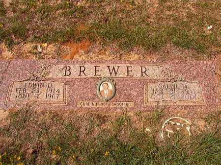 BREWER, EDWIN D - Columbia County, Arkansas | EDWIN D BREWER - Arkansas Gravestone Photos