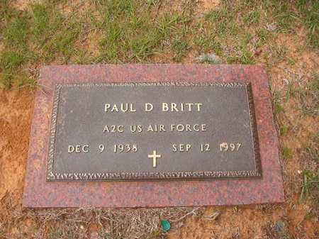 BRITT (VETERAN), PAUL D - Columbia County, Arkansas | PAUL D BRITT (VETERAN) - Arkansas Gravestone Photos