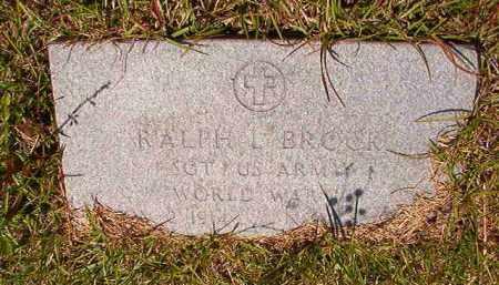 BROCK (VETERAN WWII), RALPH L - Columbia County, Arkansas | RALPH L BROCK (VETERAN WWII) - Arkansas Gravestone Photos