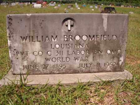 BROOMFIELD (VETERAN WWI), WILLIAM - Columbia County, Arkansas | WILLIAM BROOMFIELD (VETERAN WWI) - Arkansas Gravestone Photos