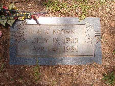 BROWN, A D - Columbia County, Arkansas | A D BROWN - Arkansas Gravestone Photos