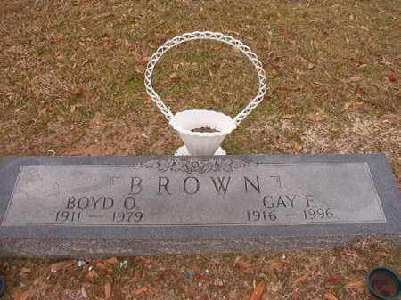 BROWN, BOYD O - Columbia County, Arkansas | BOYD O BROWN - Arkansas Gravestone Photos