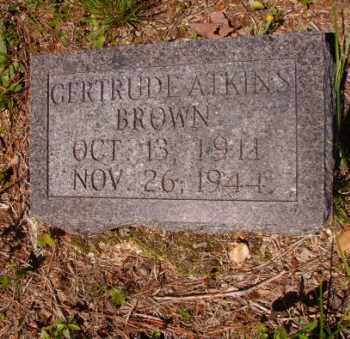 ATKINS BROWN, GERTRUDE - Columbia County, Arkansas | GERTRUDE ATKINS BROWN - Arkansas Gravestone Photos