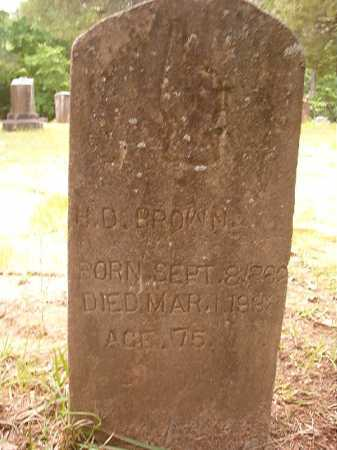 BROWN, H D - Columbia County, Arkansas | H D BROWN - Arkansas Gravestone Photos