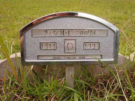BROWN, PASCHAL - Columbia County, Arkansas | PASCHAL BROWN - Arkansas Gravestone Photos