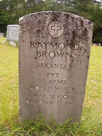 BROWN (VETERAN WWII), RAYMOND - Columbia County, Arkansas | RAYMOND BROWN (VETERAN WWII) - Arkansas Gravestone Photos