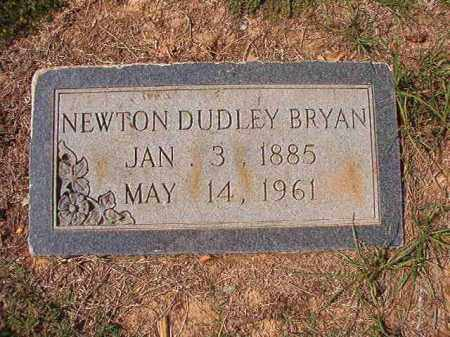 BRYAN, NEWTON DUDLEY - Columbia County, Arkansas | NEWTON DUDLEY BRYAN - Arkansas Gravestone Photos