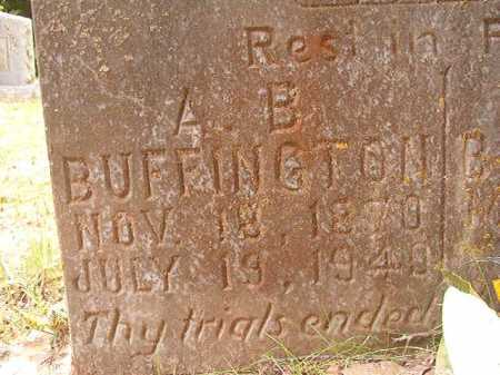 BUFFINGTON, A B - Columbia County, Arkansas | A B BUFFINGTON - Arkansas Gravestone Photos