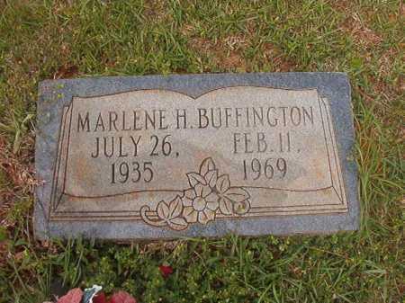 BUFFINGTON, MARLENE H - Columbia County, Arkansas | MARLENE H BUFFINGTON - Arkansas Gravestone Photos
