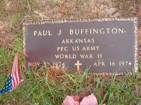 BUFFINGTON (VETERAN WWII), PAUL J - Columbia County, Arkansas | PAUL J BUFFINGTON (VETERAN WWII) - Arkansas Gravestone Photos