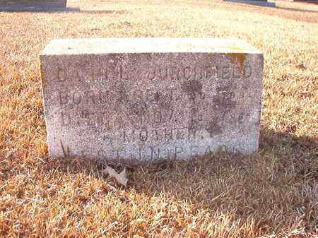 BURCHFIELD, CARRIE F - Columbia County, Arkansas | CARRIE F BURCHFIELD - Arkansas Gravestone Photos