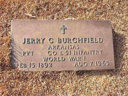 BURCHFIELD (VETERAN WWI), JERRY C - Columbia County, Arkansas | JERRY C BURCHFIELD (VETERAN WWI) - Arkansas Gravestone Photos
