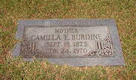 BURDINE, CAMILLA E - Columbia County, Arkansas | CAMILLA E BURDINE - Arkansas Gravestone Photos