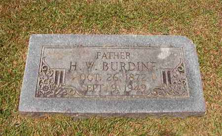BURDINE, H W - Columbia County, Arkansas | H W BURDINE - Arkansas Gravestone Photos