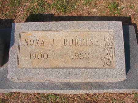 BURDINE, NORA J - Columbia County, Arkansas | NORA J BURDINE - Arkansas Gravestone Photos