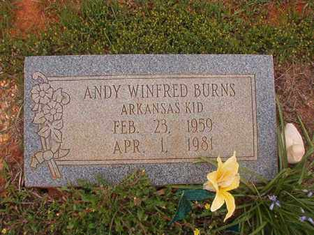 BURNS, ANDY WINFRED - Columbia County, Arkansas | ANDY WINFRED BURNS - Arkansas Gravestone Photos