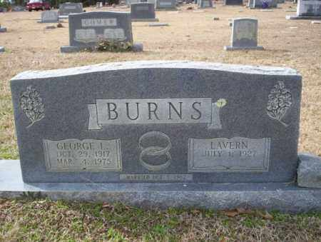 BURNS, GEORGE L - Columbia County, Arkansas | GEORGE L BURNS - Arkansas Gravestone Photos