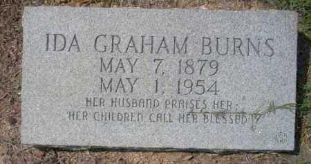 GRAHAM BURNS, IDA - Columbia County, Arkansas | IDA GRAHAM BURNS - Arkansas Gravestone Photos