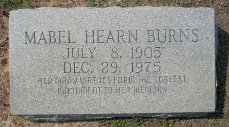 HEARN BURNS, MABLE - Columbia County, Arkansas | MABLE HEARN BURNS - Arkansas Gravestone Photos