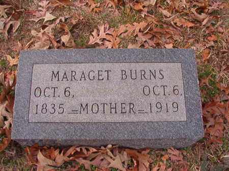 BURNS, MARAGET - Columbia County, Arkansas | MARAGET BURNS - Arkansas Gravestone Photos