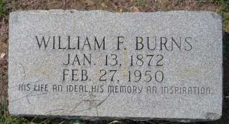 BURNS, WILLIAM F - Columbia County, Arkansas | WILLIAM F BURNS - Arkansas Gravestone Photos