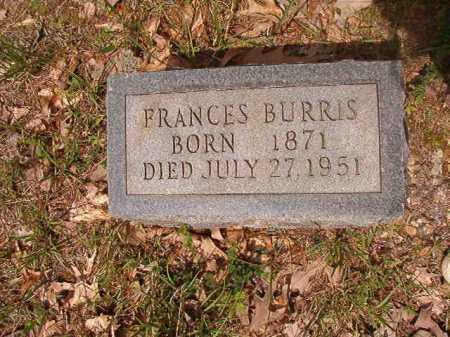 BURRIS, FRANCES - Columbia County, Arkansas | FRANCES BURRIS - Arkansas Gravestone Photos